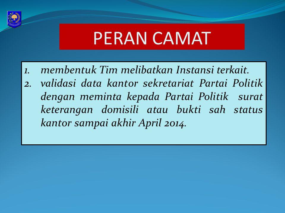 4.validasi data terhadap surat pernyataan pengurus tidak merangkap sebagai anggota Partai Politik.