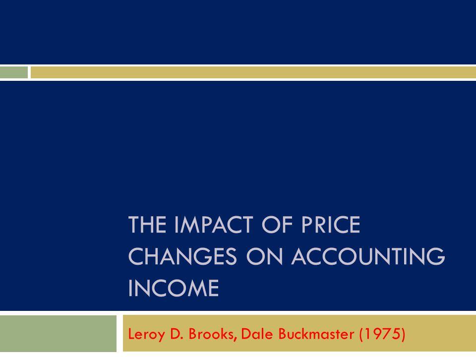 Latar belakang  Profesi bukan akuntan, agen pembuat aturan, dan praktisi akuntan sama sama menyadari bahwa pengukuran perubahan harga diperlukan dalam laporan keuangan yang dipublikasikan.