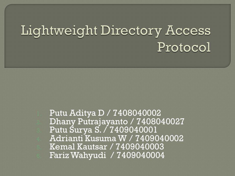 1. Putu Aditya D / 7408040002 2. Dhany Putrajayanto / 7408040027 3.