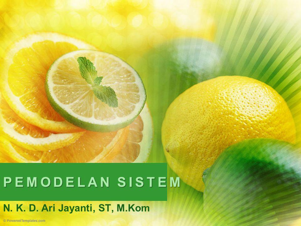 PEMODELAN SISTEM N. K. D. Ari Jayanti, ST, M.Kom