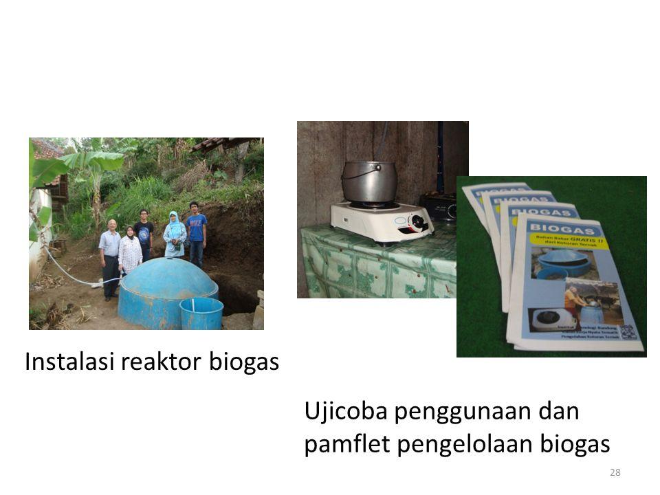 Instalasi reaktor biogas Ujicoba penggunaan dan pamflet pengelolaan biogas 28
