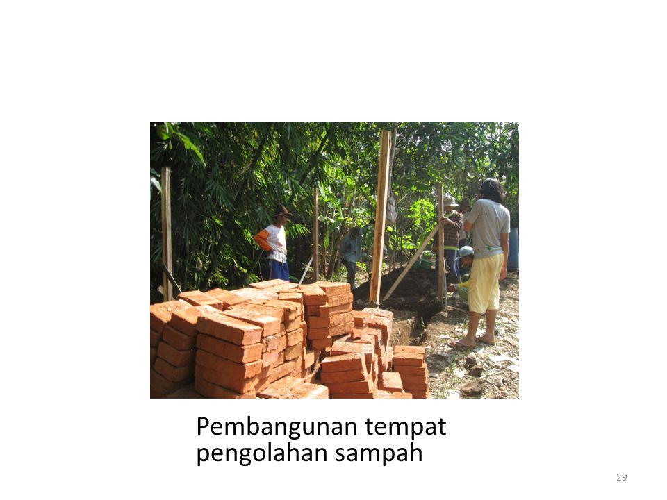 Pembangunan tempat pengolahan sampah 29