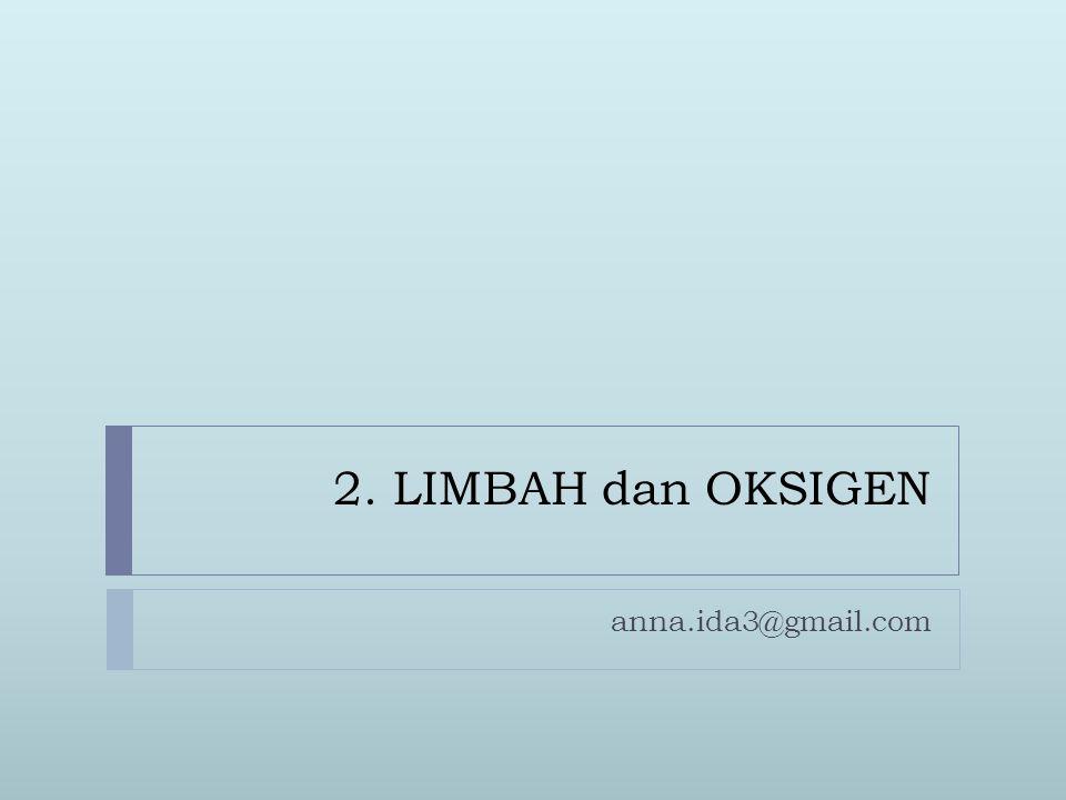 2. LIMBAH dan OKSIGEN anna.ida3@gmail.com