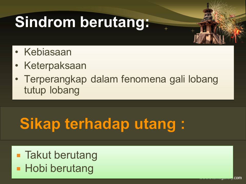 www.themegallery.com Pinjaman Bayar Harian •Membebankan bunga tinggi.