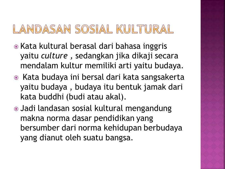  Kata kultural berasal dari bahasa inggris yaitu culture, sedangkan jika dikaji secara mendalam kultur memiliki arti yaitu budaya.  Kata budaya ini