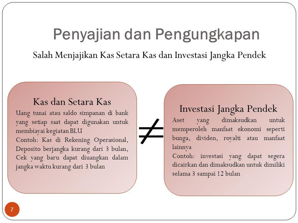 Laporan Arus Kas 18  Arus Kas dari Aktivitas Investasi: Apabila arus kas investasi negatif berarti pengeluaran investasi lebih besar daripada penerimaan dari investasi.
