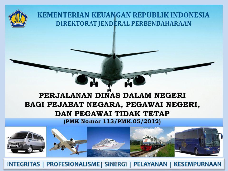 PENGERTIAN 1.Perjalanan Dinas Dalam Negeri selanjutnya disebut Perjalanan Dinas adalah perjalanan ke luar Tempat Kedudukan yang dilakukan dalam wilayah Republik Indonesia untuk kepentingan negara.