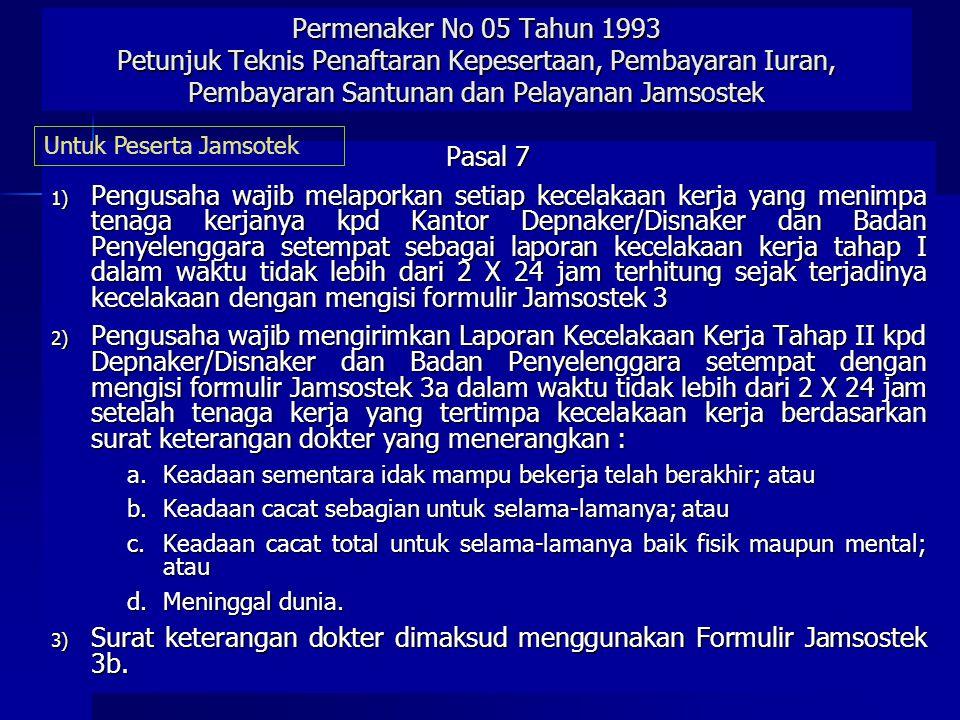 UNDANG-UNDANG No. 1 TH 1970 Ttg KESELAMATAN KERJA Pasal 11 •Pengurus diwajibkan melaporkan setiap kecelakaan yg terjadi dalam tempat kerja yg dipimpin