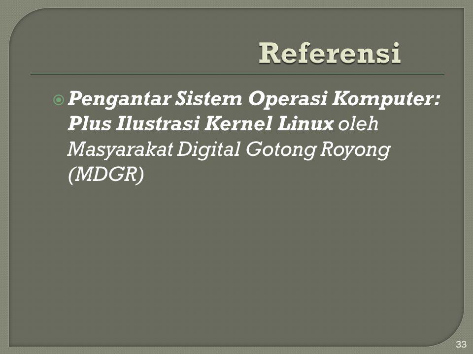  Pengantar Sistem Operasi Komputer: Plus Ilustrasi Kernel Linux oleh Masyarakat Digital Gotong Royong (MDGR) 33