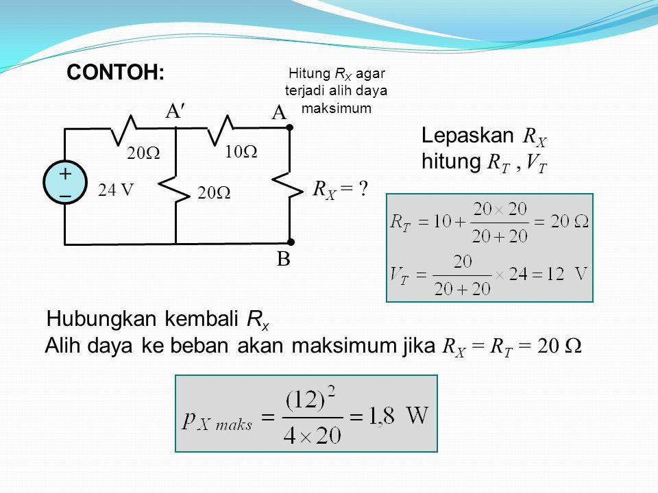 24 V 20  10  A B ++ A R X = .