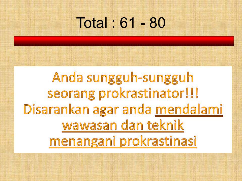 Total : 61 - 80