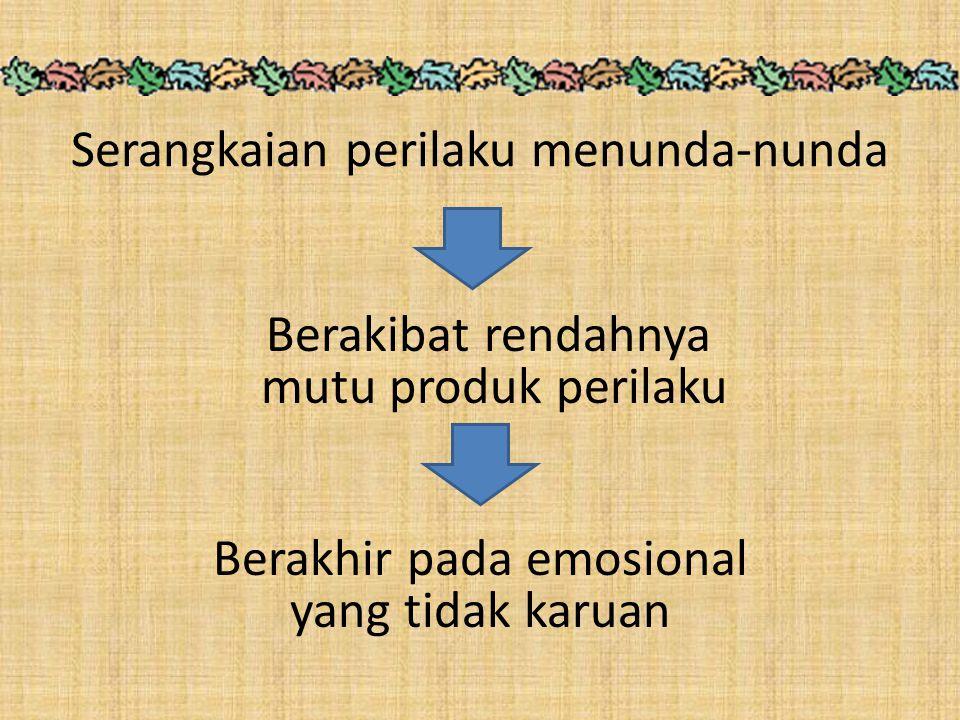 Perilaku kompleks berupa gangguan emosional pada individu prokrastinator FATAL