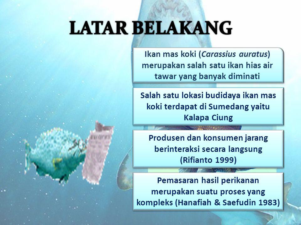 1.Bagaimana tingkat efisiensi pemasaran pada setiap saluran pemasaran di Kelompok Pembudidaya Ikan Kalapa Ciung.