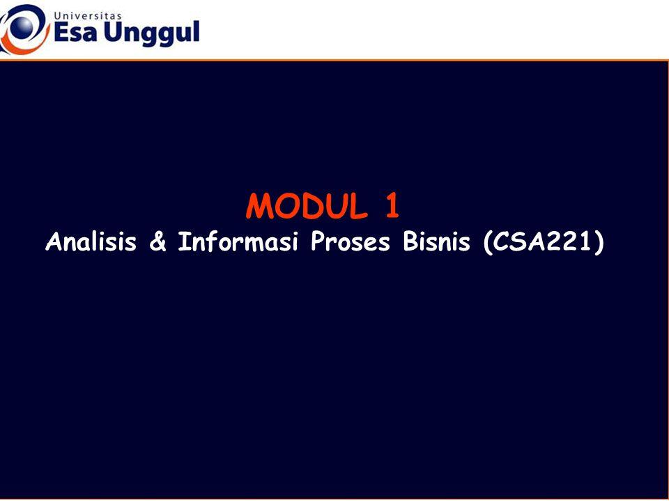 MODUL 1 Analisis & Informasi Proses Bisnis (CSA221)