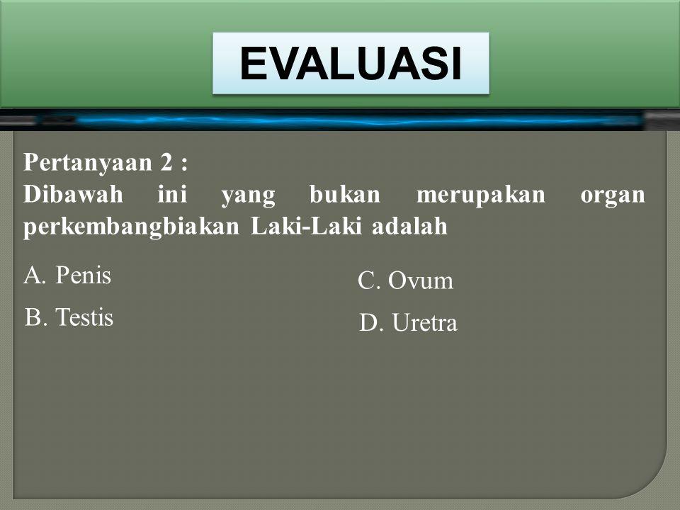 Pertanyaan 1 : usaha untuk bertambah banyak disebut… B. Berkembangbiak A. Perkembangan D. Bertumbuh C. Berkembang NEXT BENAR