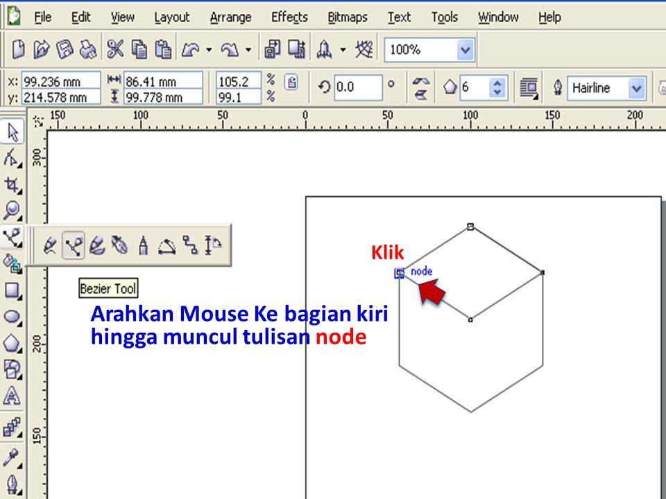 Arahkan Mouse Ke bagian kiri hingga muncul tulisan node