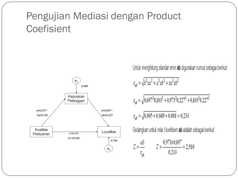 Pengujian Mediasi dengan Product Coefisient