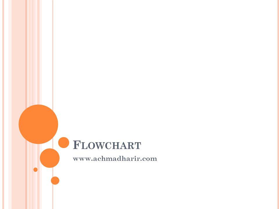 F LOWCHART www.achmadharir.com
