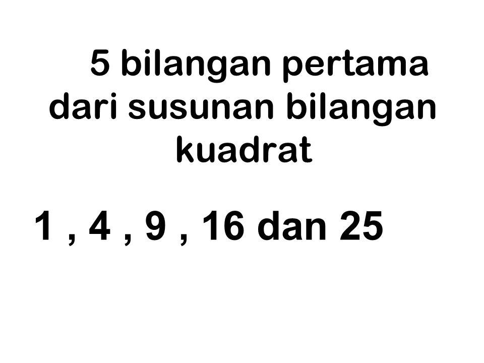 Contoh: 3 x 3 = 3 2 = 9 9 adalah bilangan kuadrat 3 disebut akar dari 9 2 disebut kuadrat