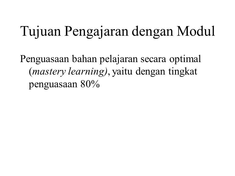 Modul 1.Menyusun kerangka modul 2.Menulis program secara rinci