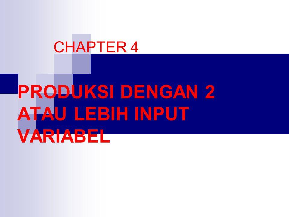 PRODUKSI DENGAN 2 ATAU LEBIH INPUT VARIABEL CHAPTER 4