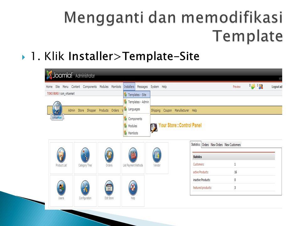  1. Klik Installer>Template-Site