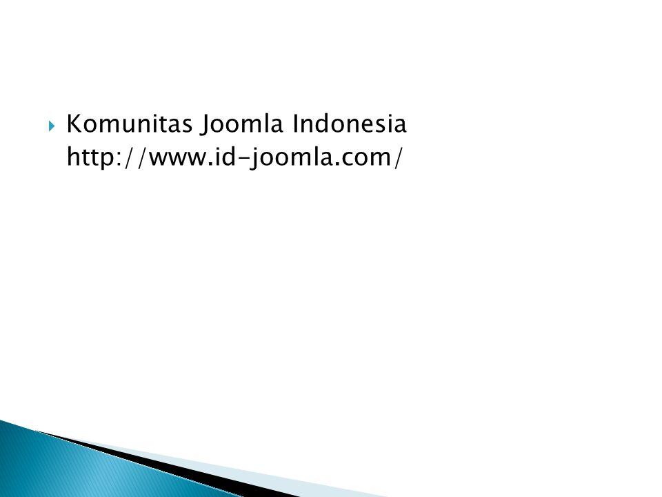  Komunitas Joomla Indonesia http://www.id-joomla.com/