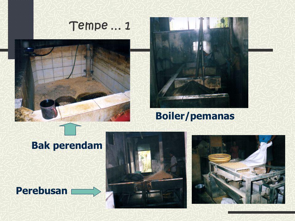 Tempe … 1 Bak perendam Boiler/pemanas Perebusan