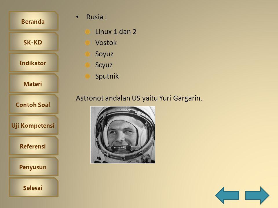 Beranda SK-KD Indikator Materi Contoh Soal Uji Kompetensi Referensi Penyusun Selesai Bidang Ruang Angkasa Terjadinya perlombaan di luar angkasa dengan