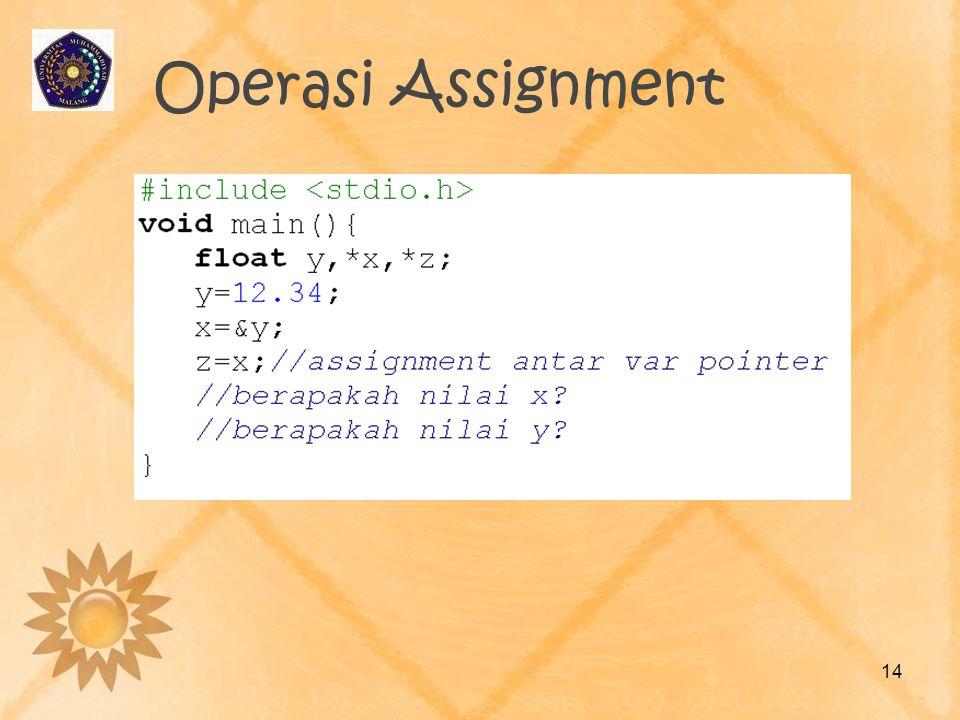 Operasi Assignment 14