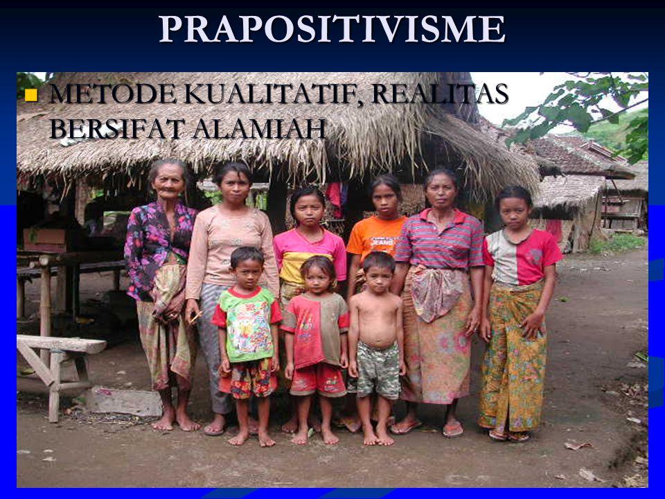 POSITIVISME METODA KUANTITATIF HASIL RESEARCH DAN DEVELOPMENT