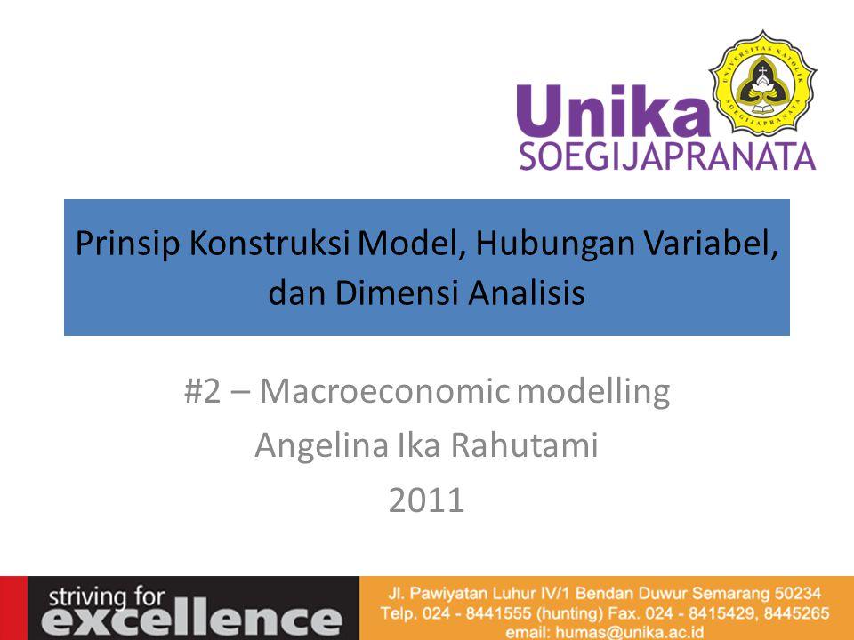 Prinsip Konstruksi Model, Hubungan Variabel, dan Dimensi Analisis #2 – Macroeconomic modelling Angelina Ika Rahutami 2011