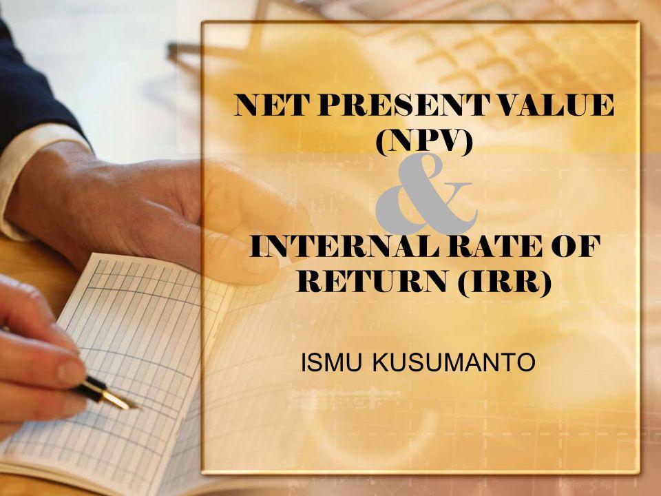 NPV v.s IRR  Misal : MARR/i = 10 % maka discounted factor-nya (F  P atau ( P/F, i, n )) = 0,909 Penerimaa n Discounted factor Investasi Awal NPV Proyek A Proyek B 12.000 17.700 0,909 -10.000 -15.000 908 1,089 IRRNPV Proyek A Proyek B 20 % 18 % 908 1,089 INGAT .