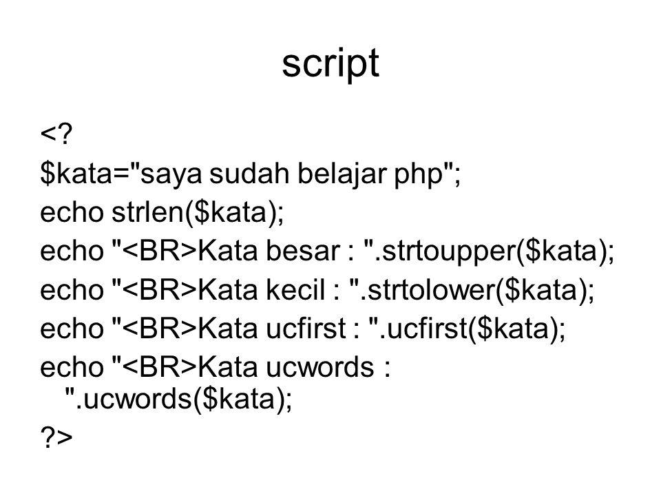 script <? $kata=