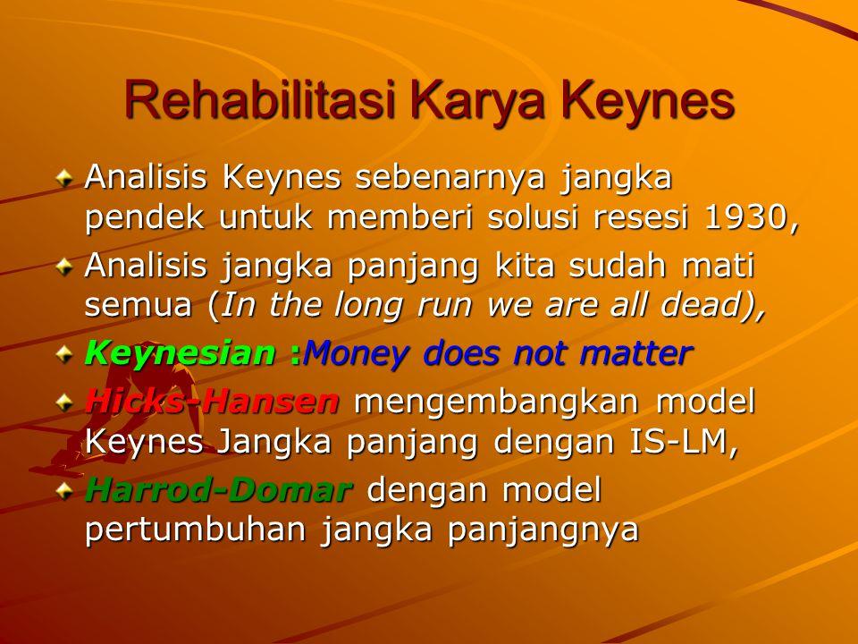Core dari analisis Keynes: Liquidity Preferrence.