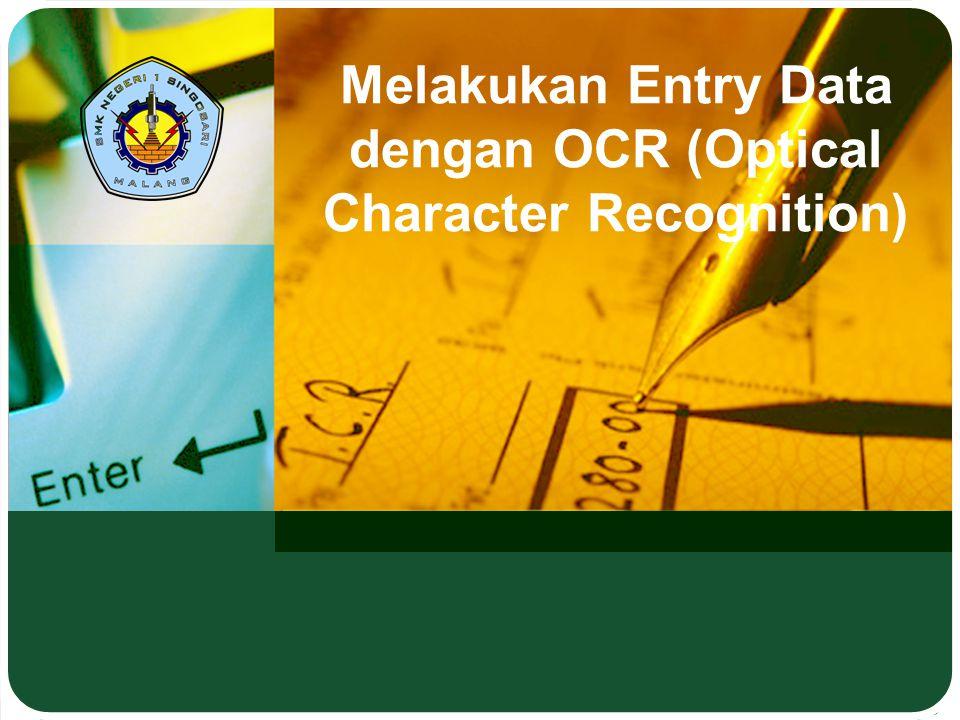 Melakukan Entry Data dengan OCR (Optical Character Recognition)