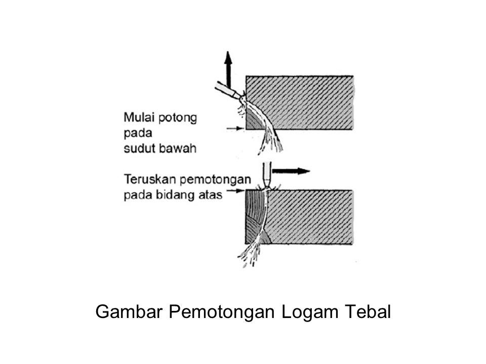 Pemotongan pada Besi Tuang •Pada saat melakukan pemotongan benda kerja yang terbuat dari bahan besi tuang, perlu diperhatikan hal-hal berikut ini.