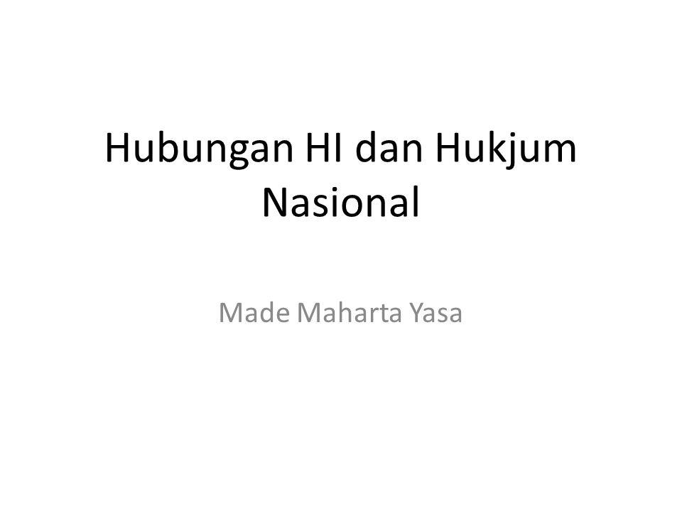 Hubungan HI dan Hukjum Nasional Made Maharta Yasa