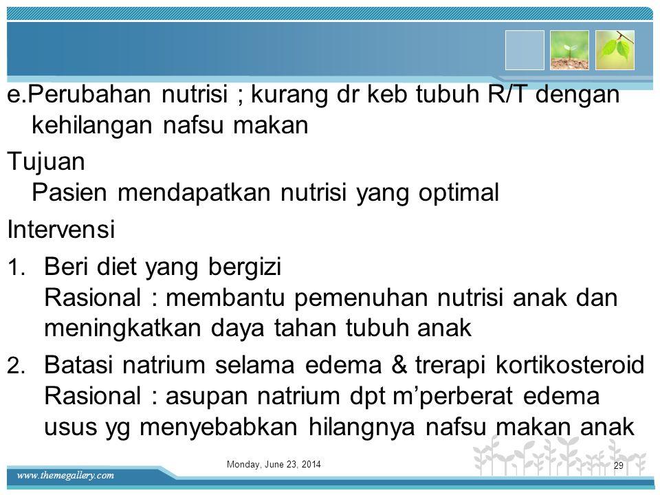 www.themegallery.com Rasional : untuk mencegah terjadinya iritasi pada kulit karena gesekan dengan alat tenun 4. Topang organ edema, seperti skrotum R