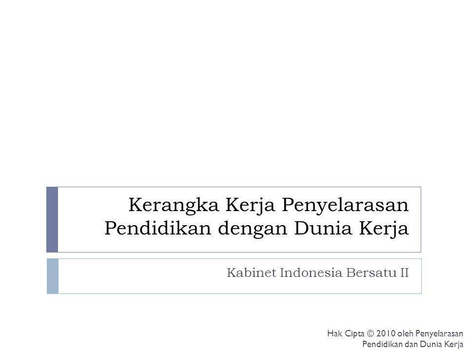 Kerangka Kerja Penyelarasan Pendidikan dengan Dunia Kerja Kabinet Indonesia Bersatu II Hak Cipta © 2010 oleh Penyelarasan Pendidikan dan Dunia Kerja
