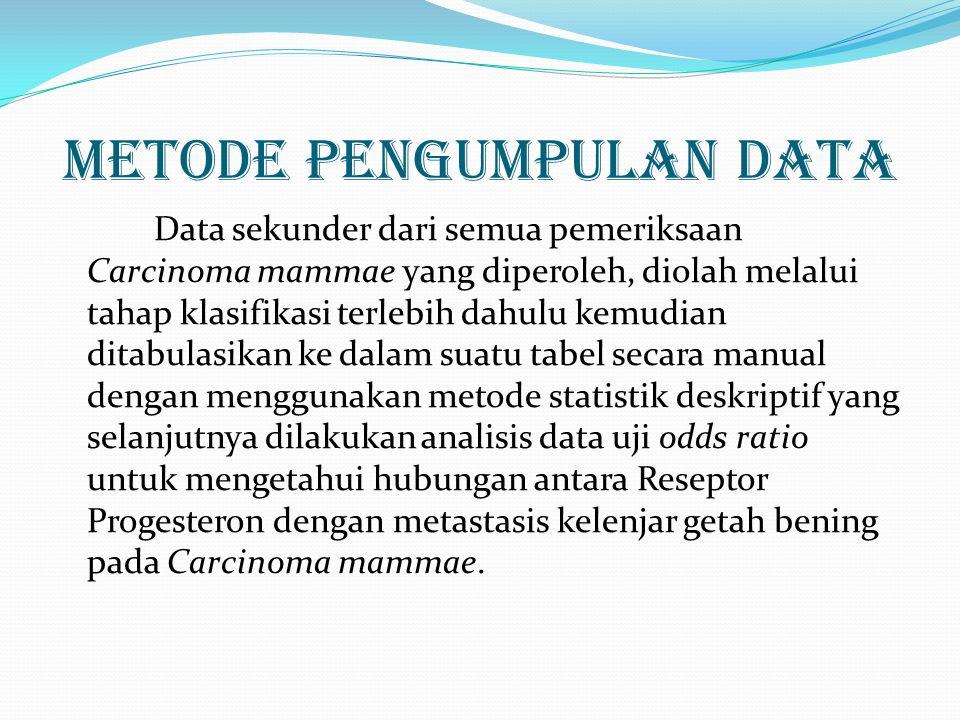 Hasil Penelitian DAN PEMBAHASAN  Sebanyak 56 penderita yang memenuhi kriteria inklusi yang dapat digunakan sebagai sampel.