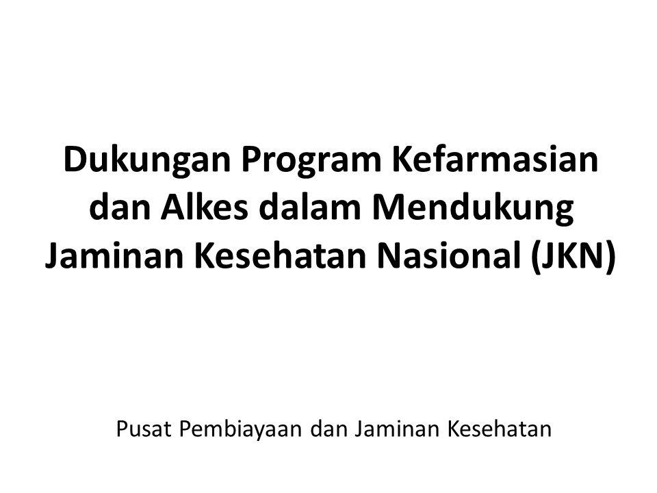 Dukungan Program Kefarmasian dan Alkes dalam Mendukung Jaminan Kesehatan Nasional (JKN) Pusat Pembiayaan dan Jaminan Kesehatan
