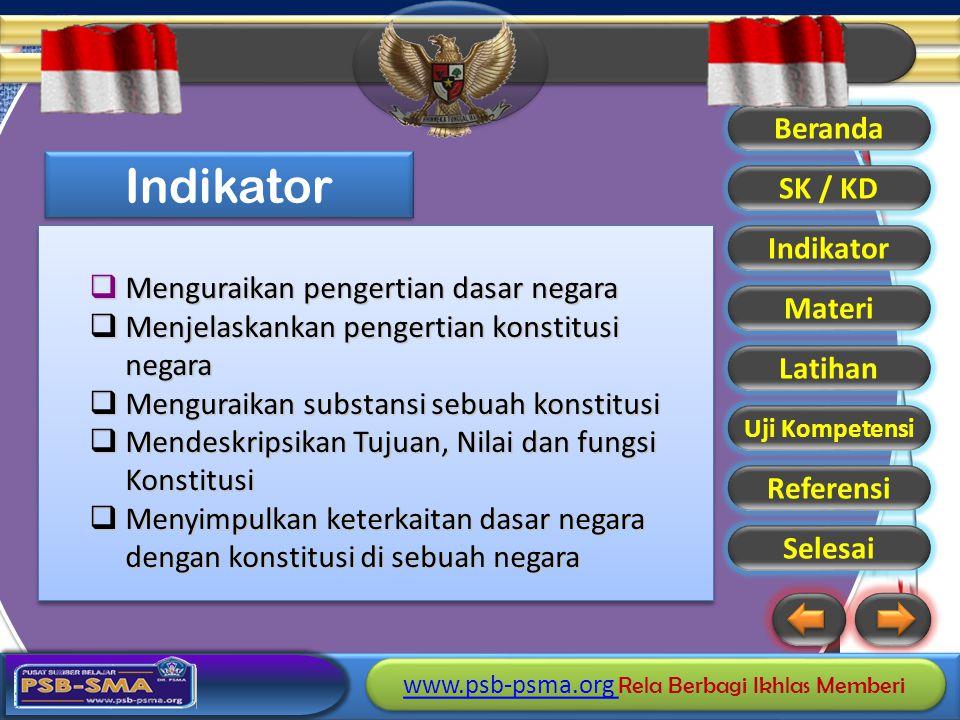 www.psb-psma.org www.psb-psma.org Rela Berbagi Ikhlas Memberi www.psb-psma.org www.psb-psma.org Rela Berbagi Ikhlas Memberi Beranda SK / KD Indikator