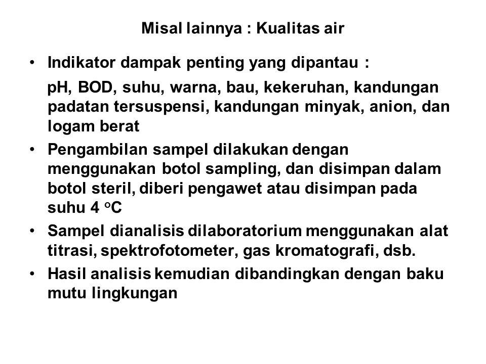 5.Metode Pemantauan LH a)Metode pengumpulan dan analisis data.