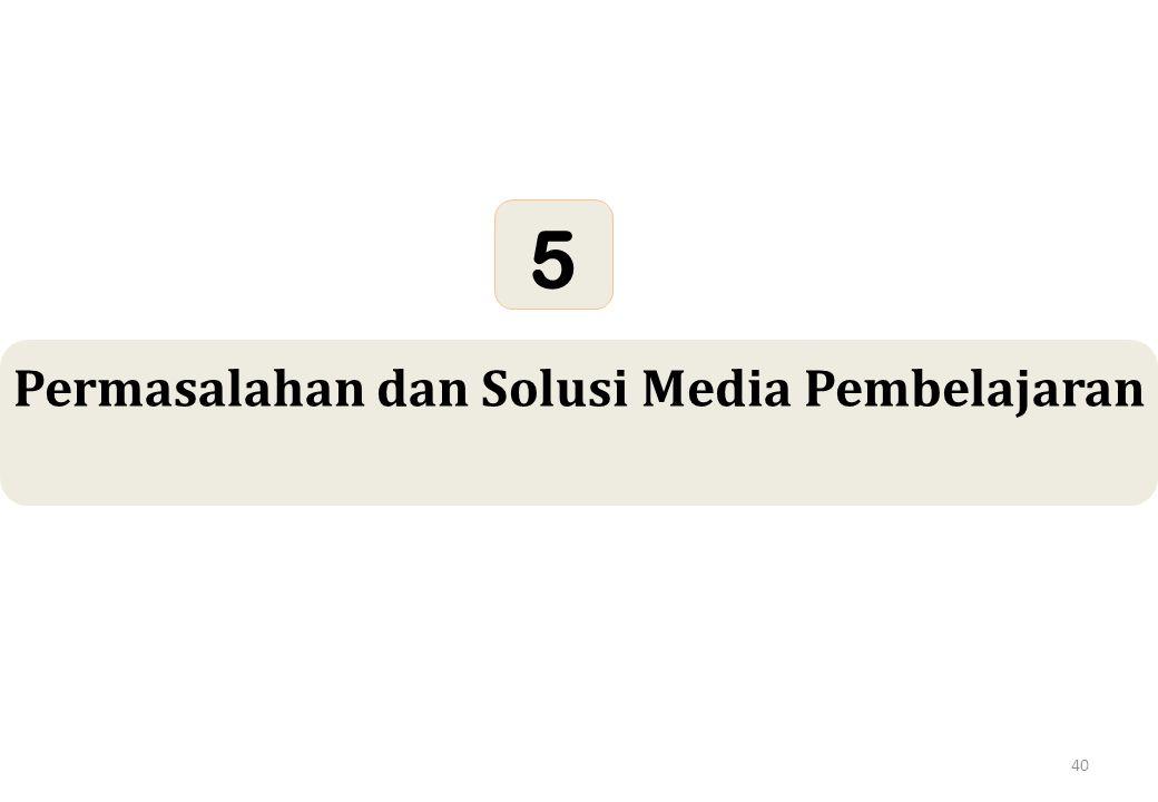 40 Permasalahan dan Solusi Media Pembelajaran 5