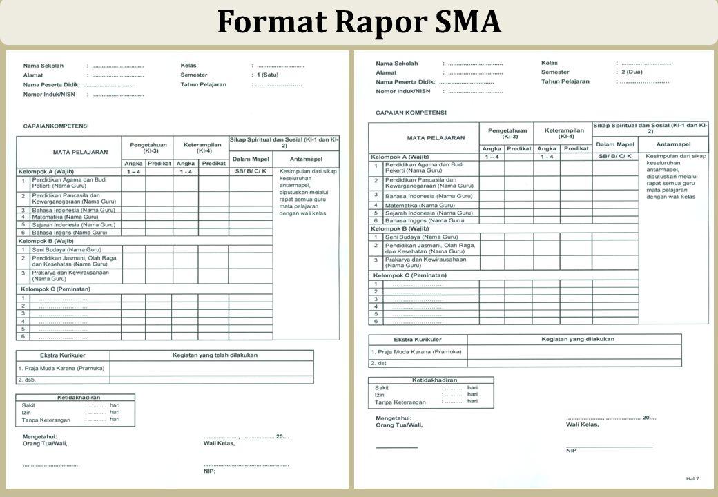 53 Format Rapor SMA