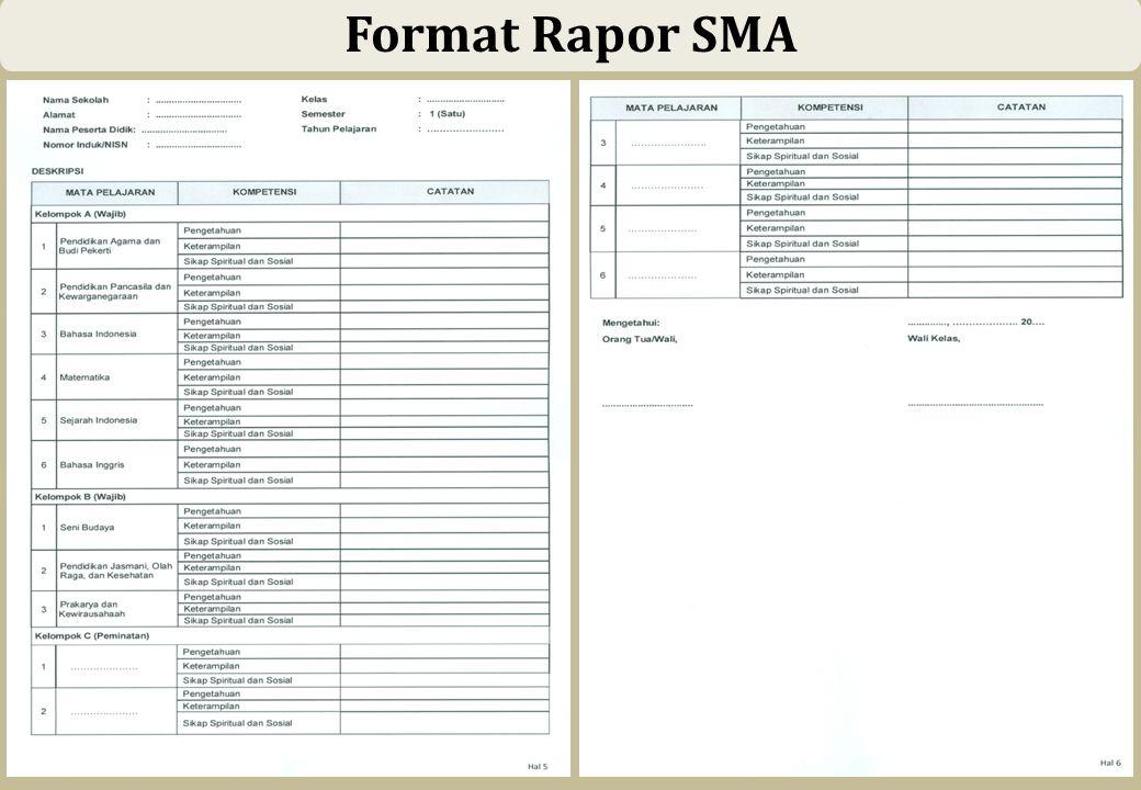 54 Format Rapor SMA