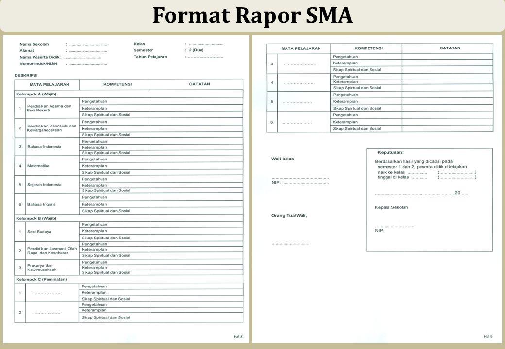 55 Format Rapor SMA