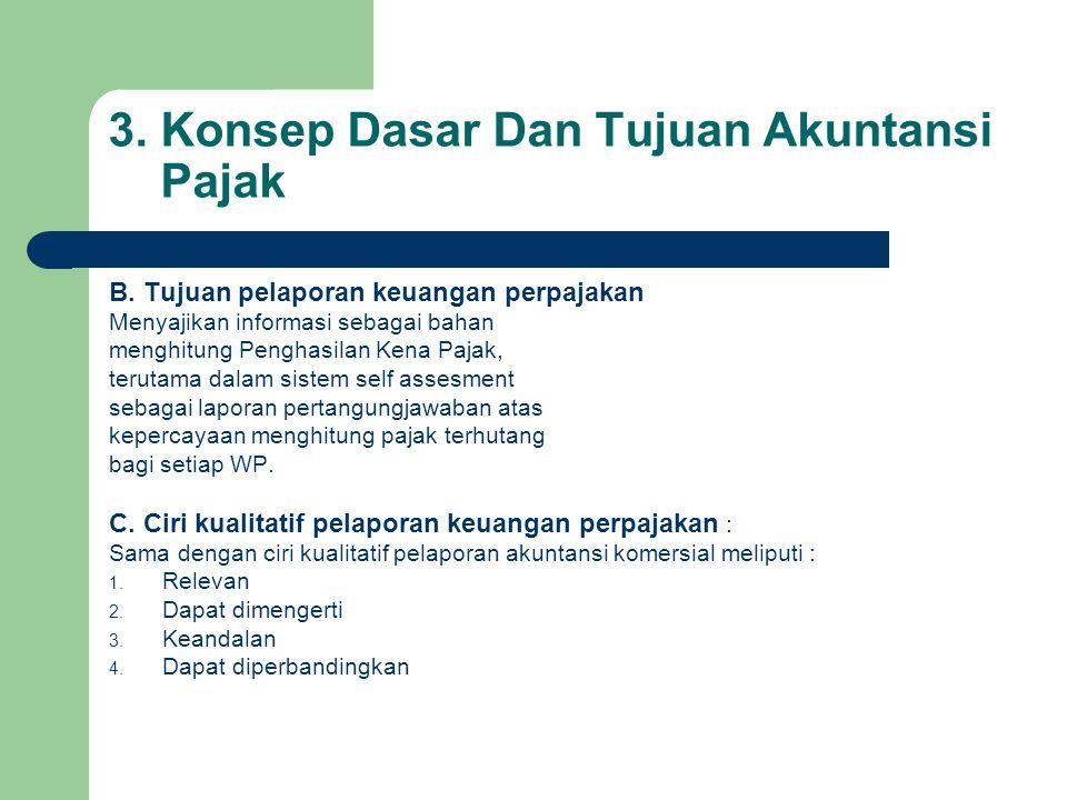 3.Konsep Dasar Dan Tujuan Akuntansi Pajak B.