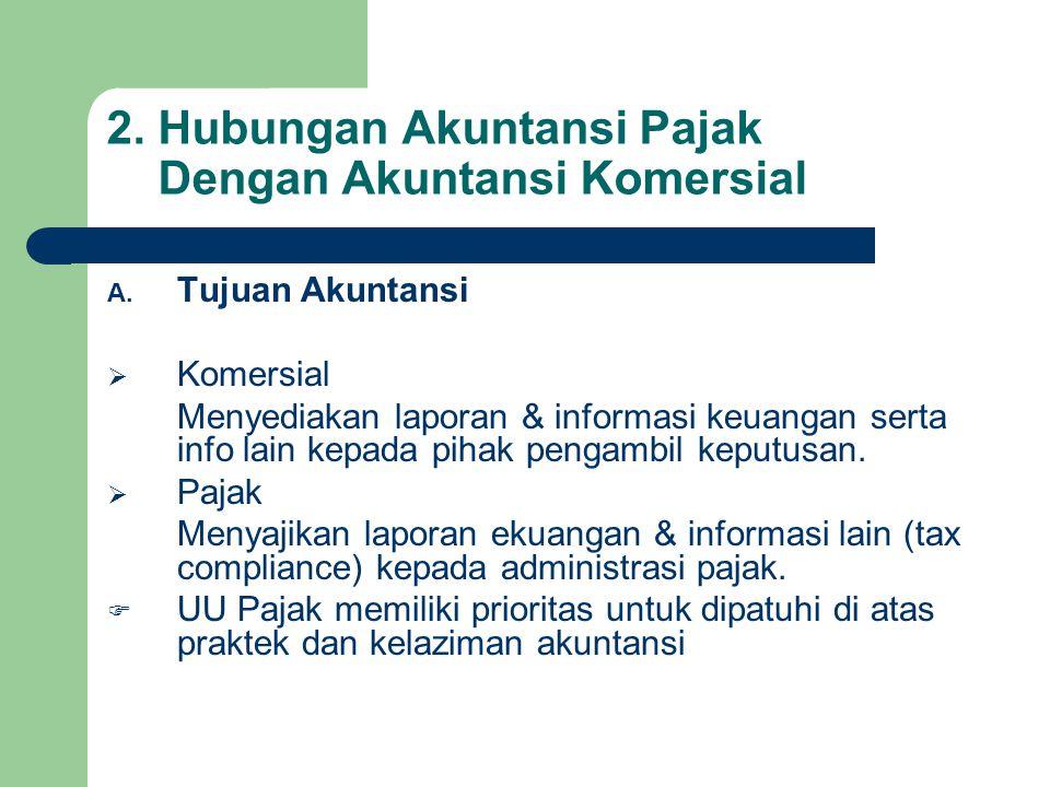 2.Hubungan Akuntansi Pajak Dengan Akuntansi Komersial A.